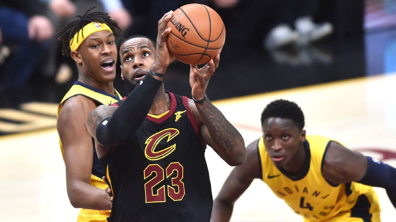 2db7297e412a Cleveland Cavaliers ride LeBron James s hot start to Game 2 win over  Indiana Pacers