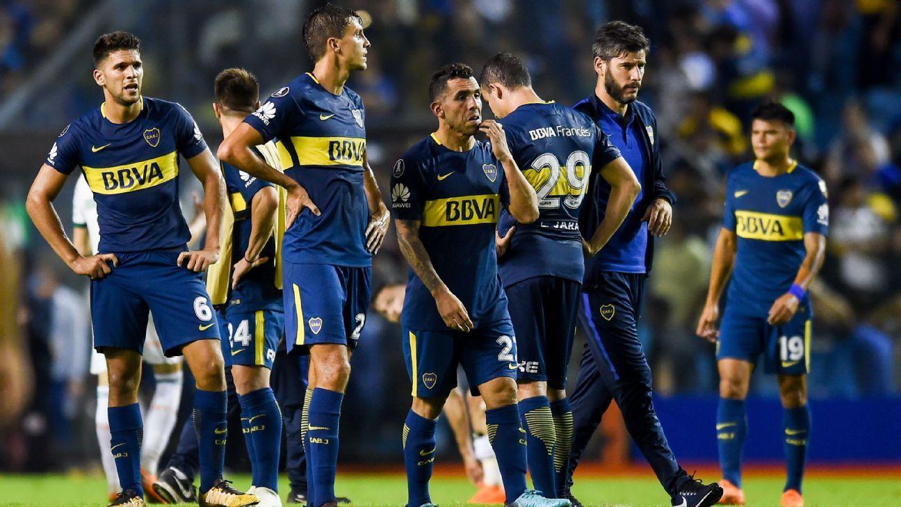 detailed look 6d42a b81cd Carlos Tevez toiling with Boca Juniors in Copa Libertadores