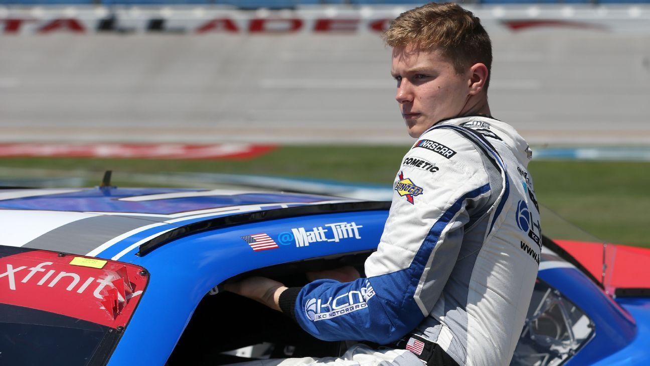 Matt Tifft leaves Front Row Motorsports to focus on health