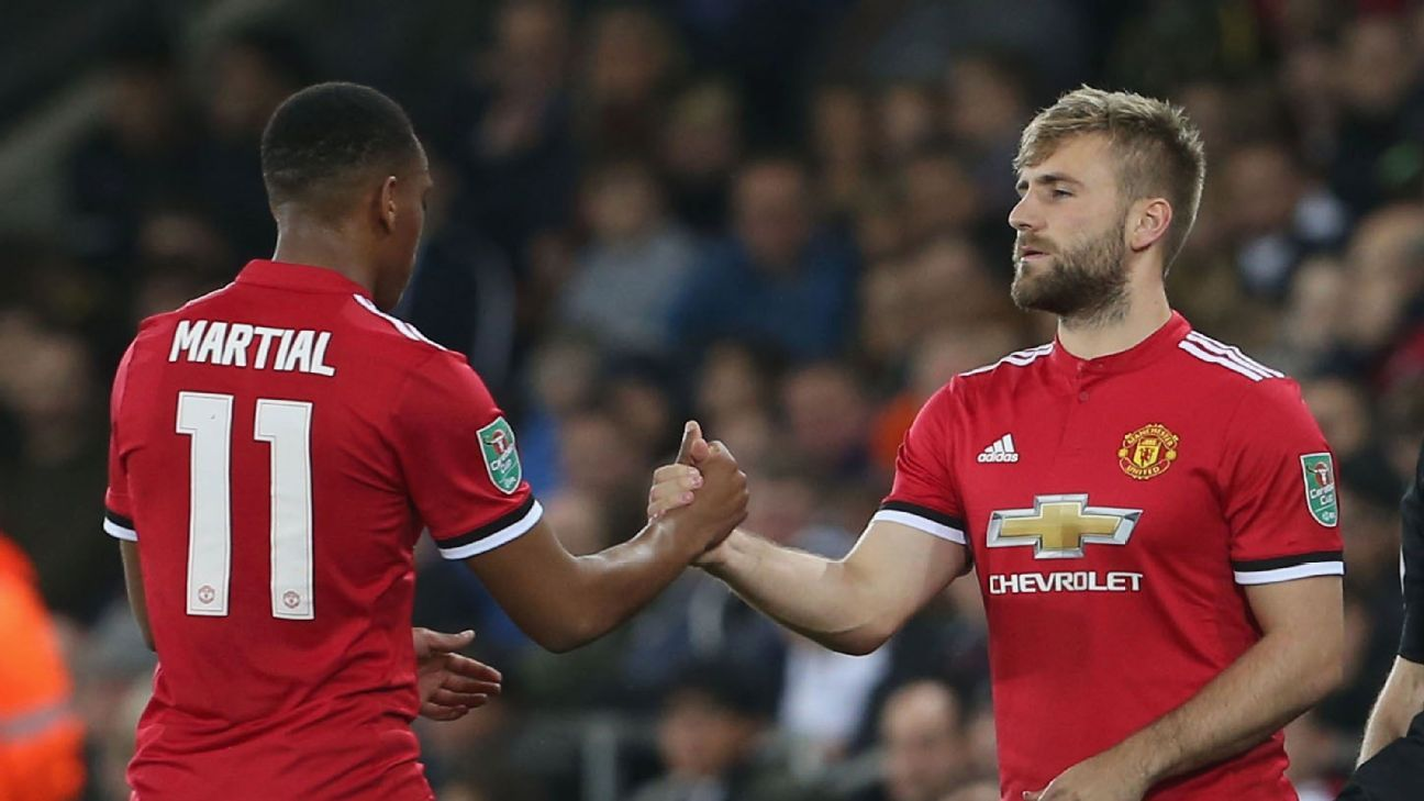Sources: Manchester United's Luke Shaw a doubt but Anthony Martial could return vs. Liverpool