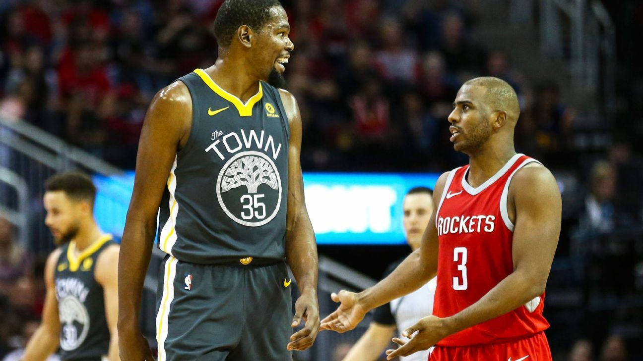 4e5154b5ae3 Golden State Warriors vs Houston Rockets 5-on-5 debate - Chris Paul ...
