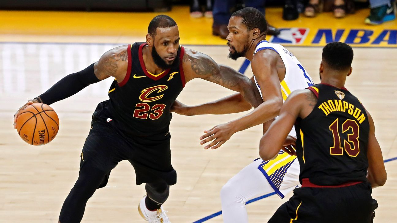 Image result for kd lebron nba finals game 1