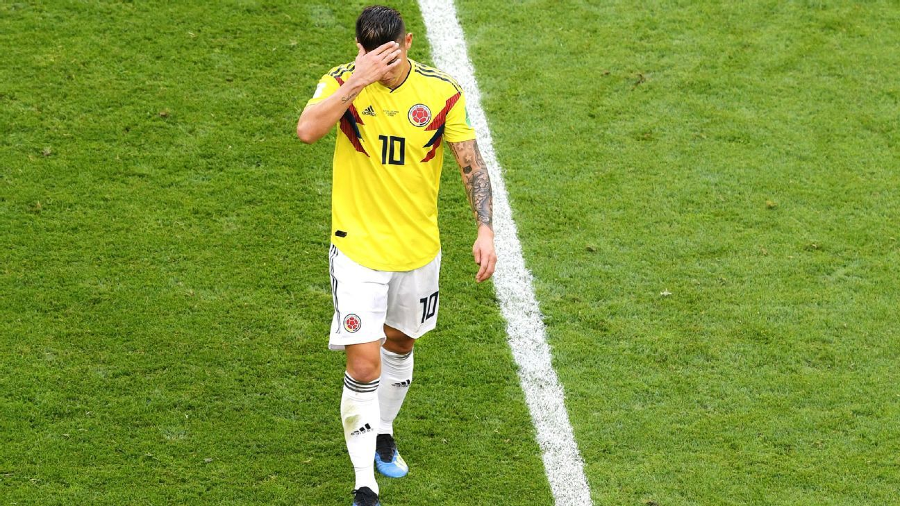 73a2ec9dbfa James Rodriguez unavailable for Colombia in round of 16 vs. England