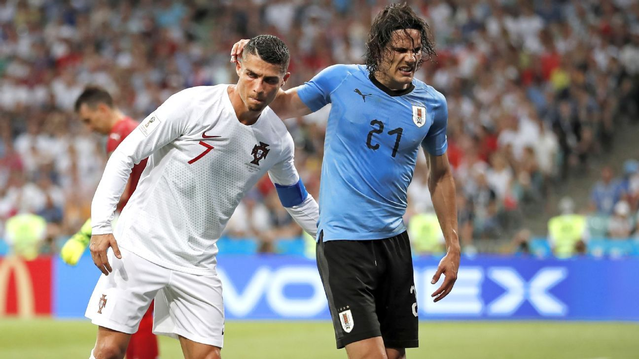 Uruguay S Edinson Cavani Misses Training But Scans Show No Muscle Tear