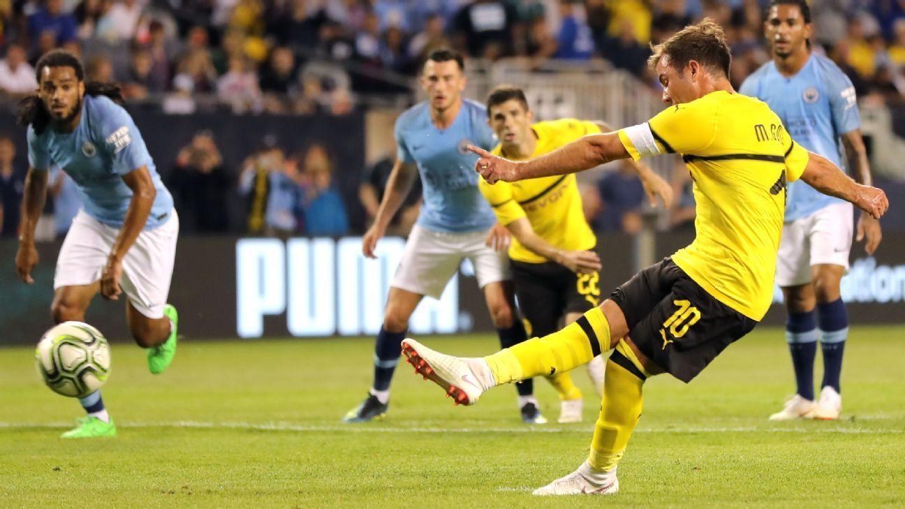 Manchester City Vs Borussia Dortmund Football Match