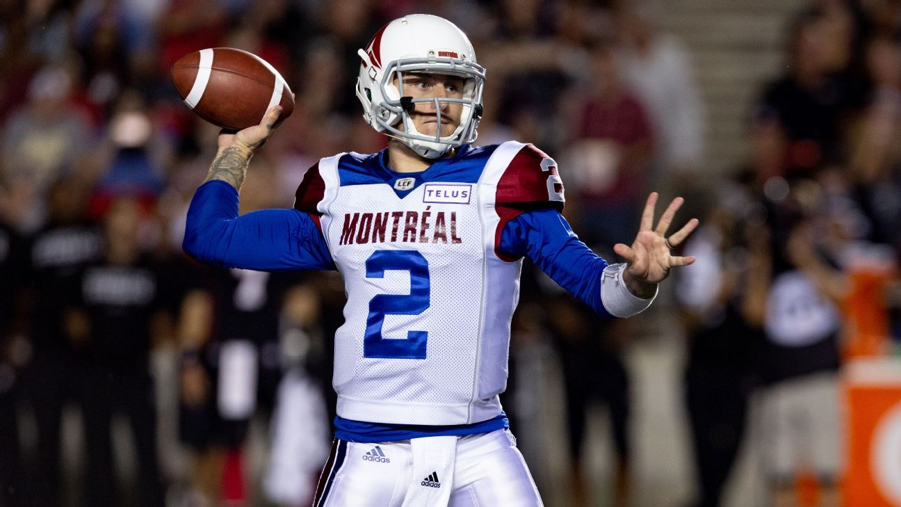 ae8acc52ab8 Manziel released, barred from other CFL teams