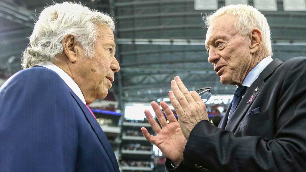 Q&A: Cowboys' Jerry Jones, Patriots' Robert Kraft on their relationship, teams and more