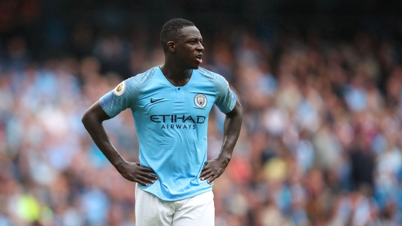Man City's Benjamin Mendy back with first team for Carabao Cup match