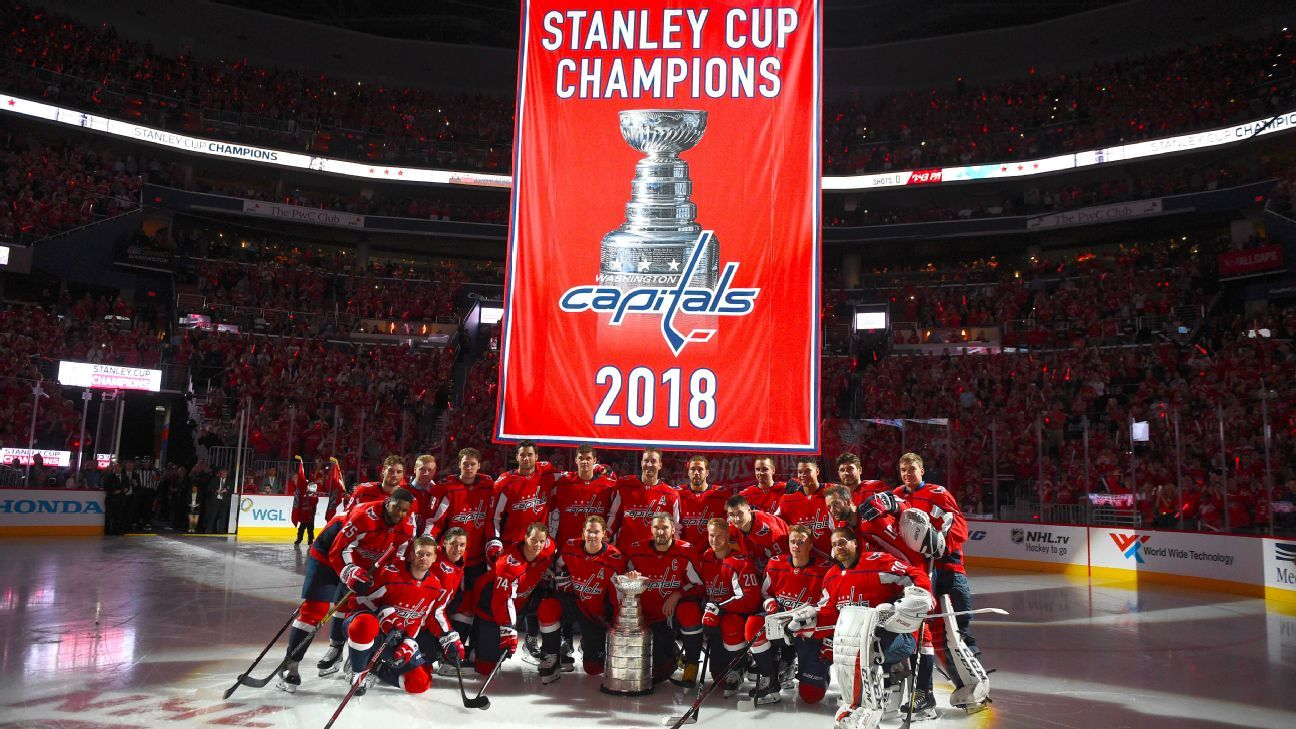 Washington Capitals raise Stanley Cup championship banner ...