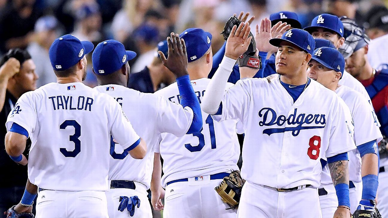 MLB -- Los Angeles Dodgers showing Braves what postseason ...  Dodgers Baseball