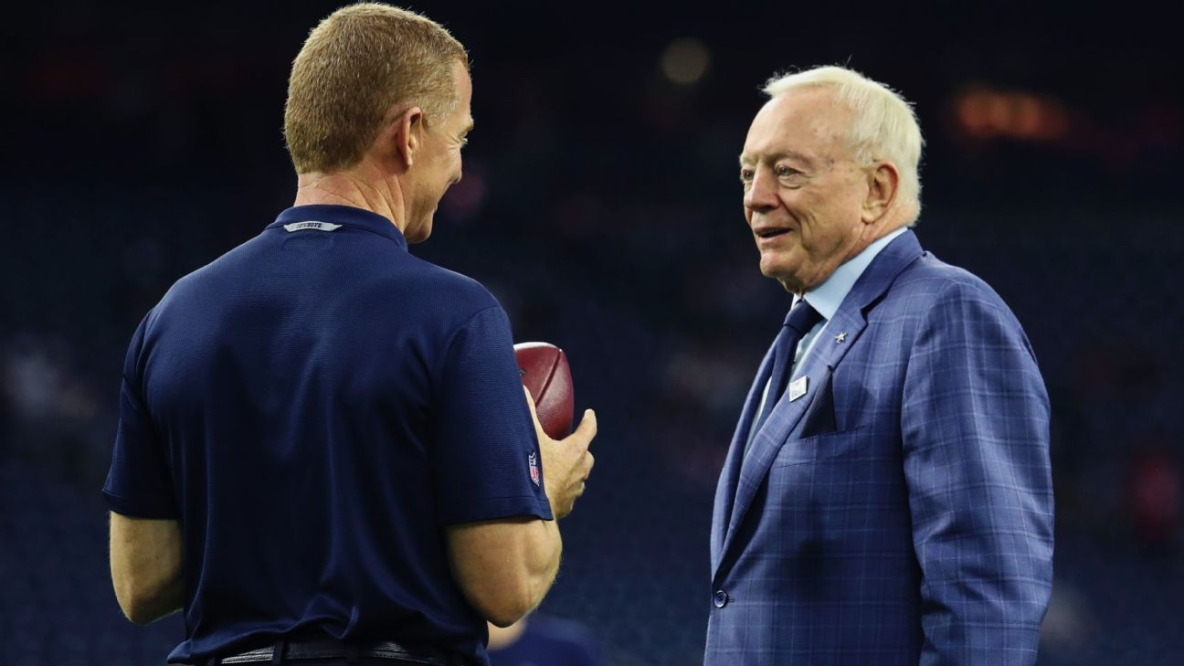 Jerry Jones said Wednesday that the delay in announcing additions to Jason Garrett's staff has nothing to do with his head coach's job status.