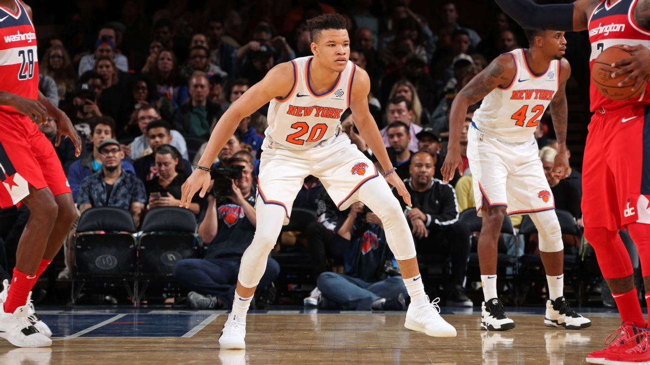 10783c2b4 Frank Ntilikina to start over Kevin Knox for New York Knicks
