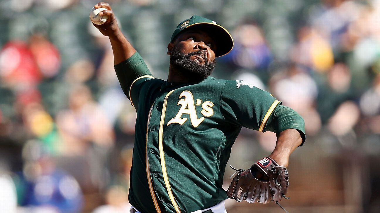 The Oakland Athletics have designated relief pitcher Fernando Rodney for assignment, the team announced Saturday.