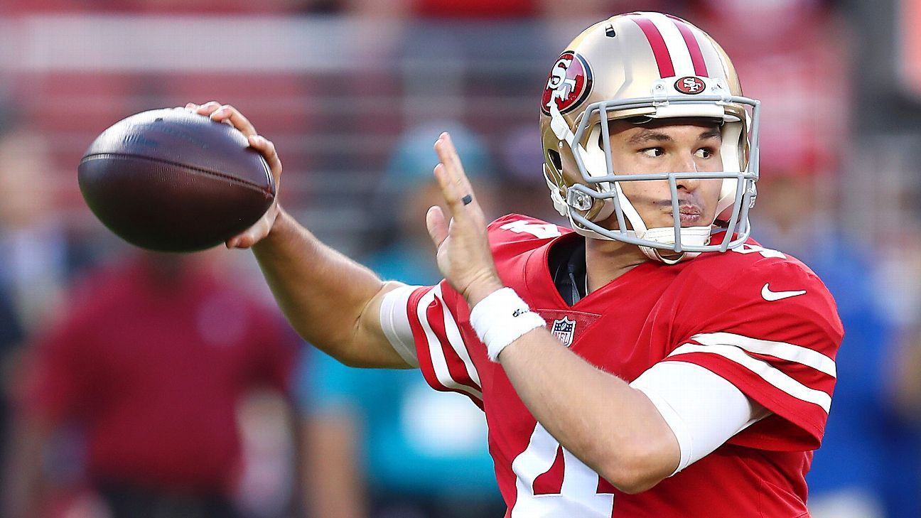 fe02bf7f8 San Francisco 49ers QB Nick Mullens to start against New York Giants