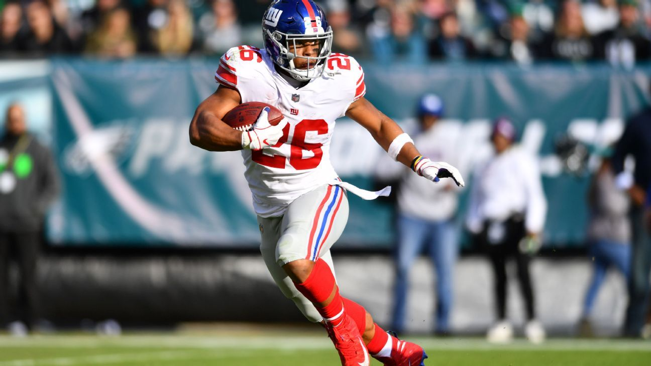 22c77e13d4a Saquon Barkley to wear cleats supporting his niece with rare illness - New  York Giants Blog- ESPN