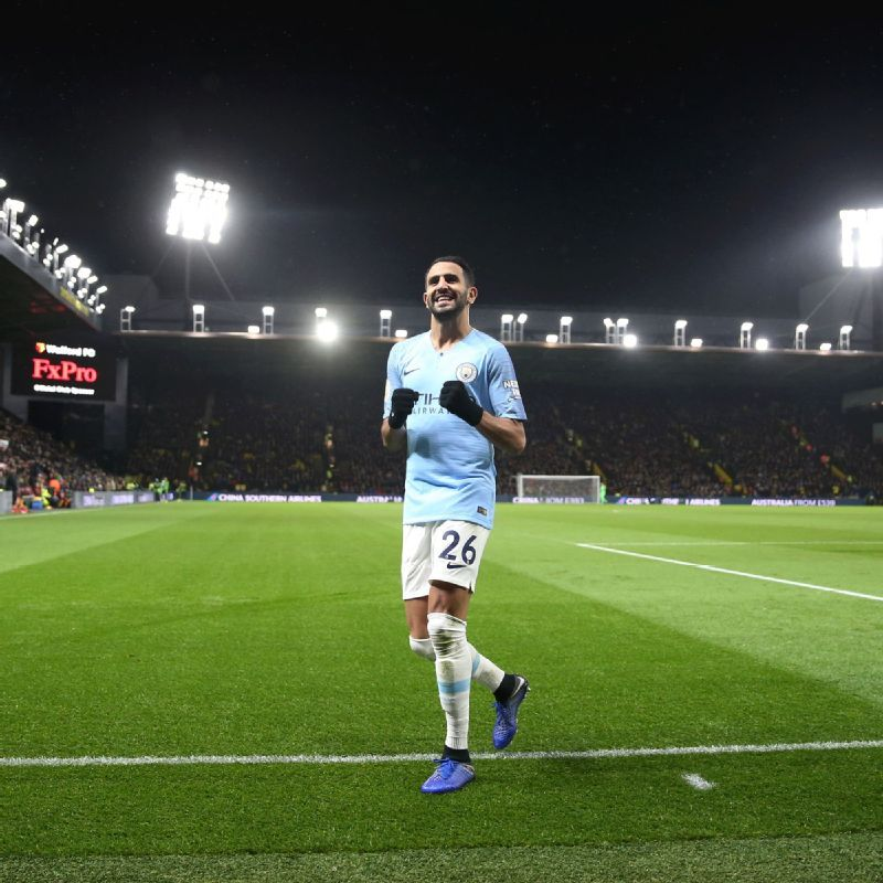 Manchester City's Pep Guardiola - 'Sad' for Riyad Mahrez but other players playing well