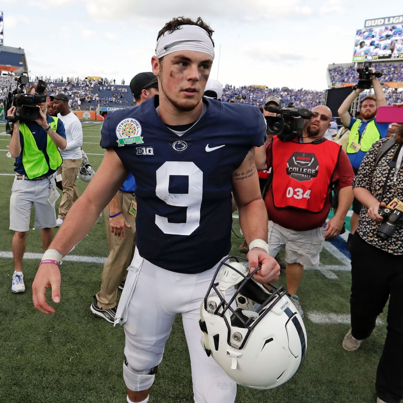 online store 44dde 3351c Penn State QB Trace McSorley plays through foot injury vs ...