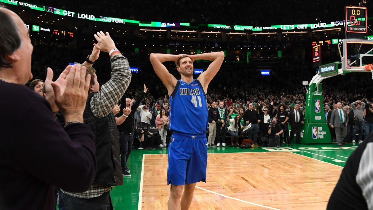 Dirk goes scoreless in emotional Boston finale