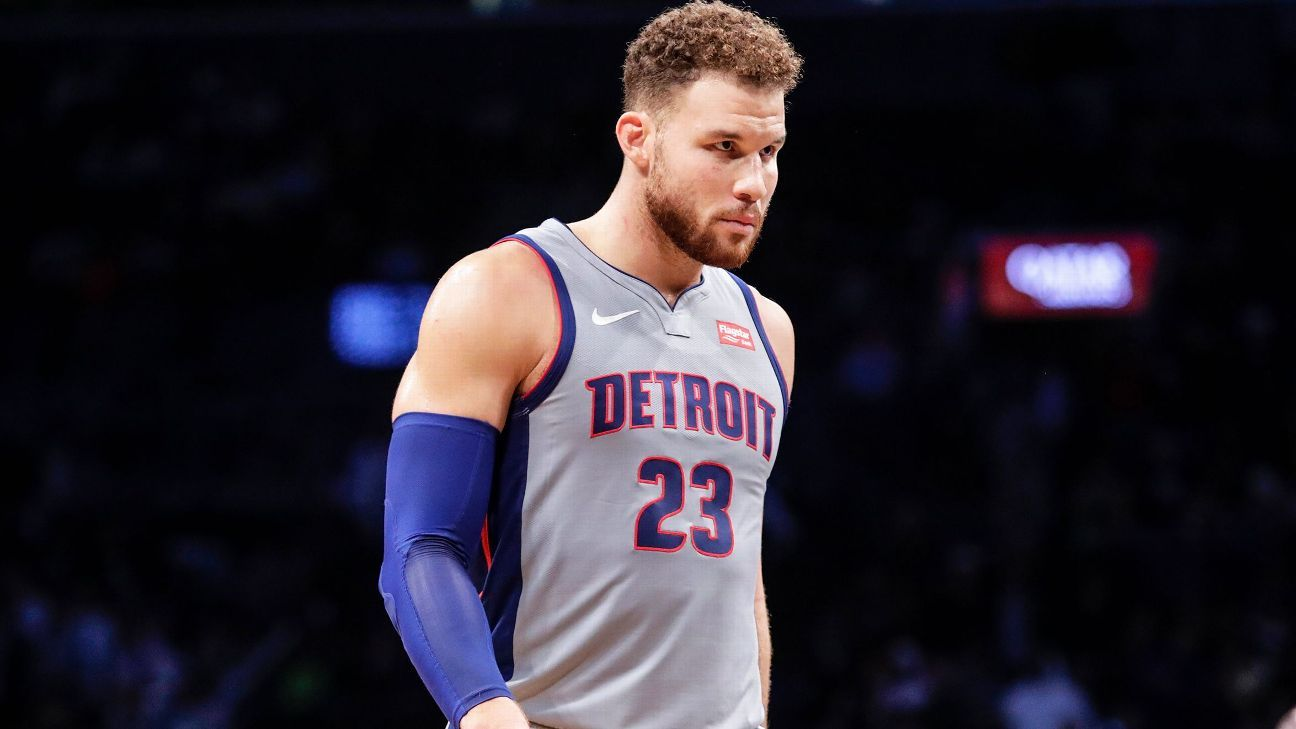 Blake Griffin to sit while Detroit Pistons weigh trade, buyout options for former NBA All-Star - ESPN India