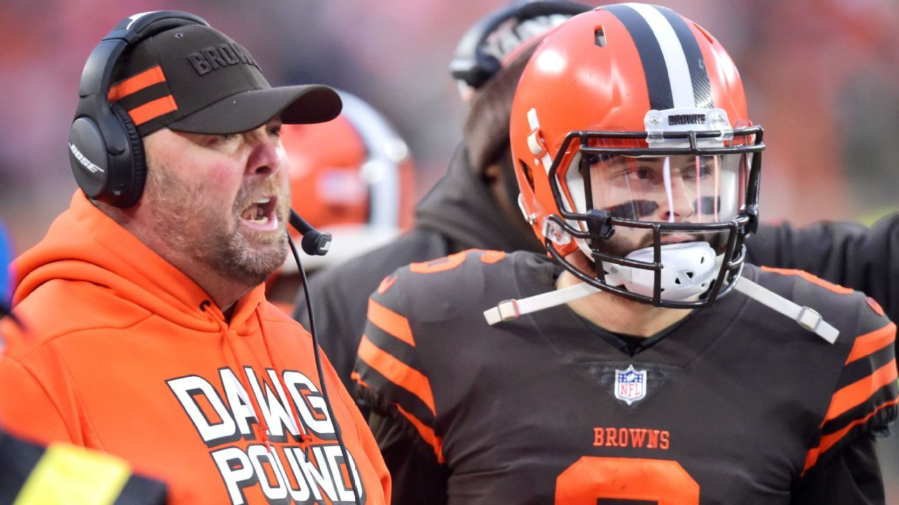 Freddie Kitchens was the Browns' interim offensive coordinator for the final eight games this season and will be promoted to head coach, according to a source.