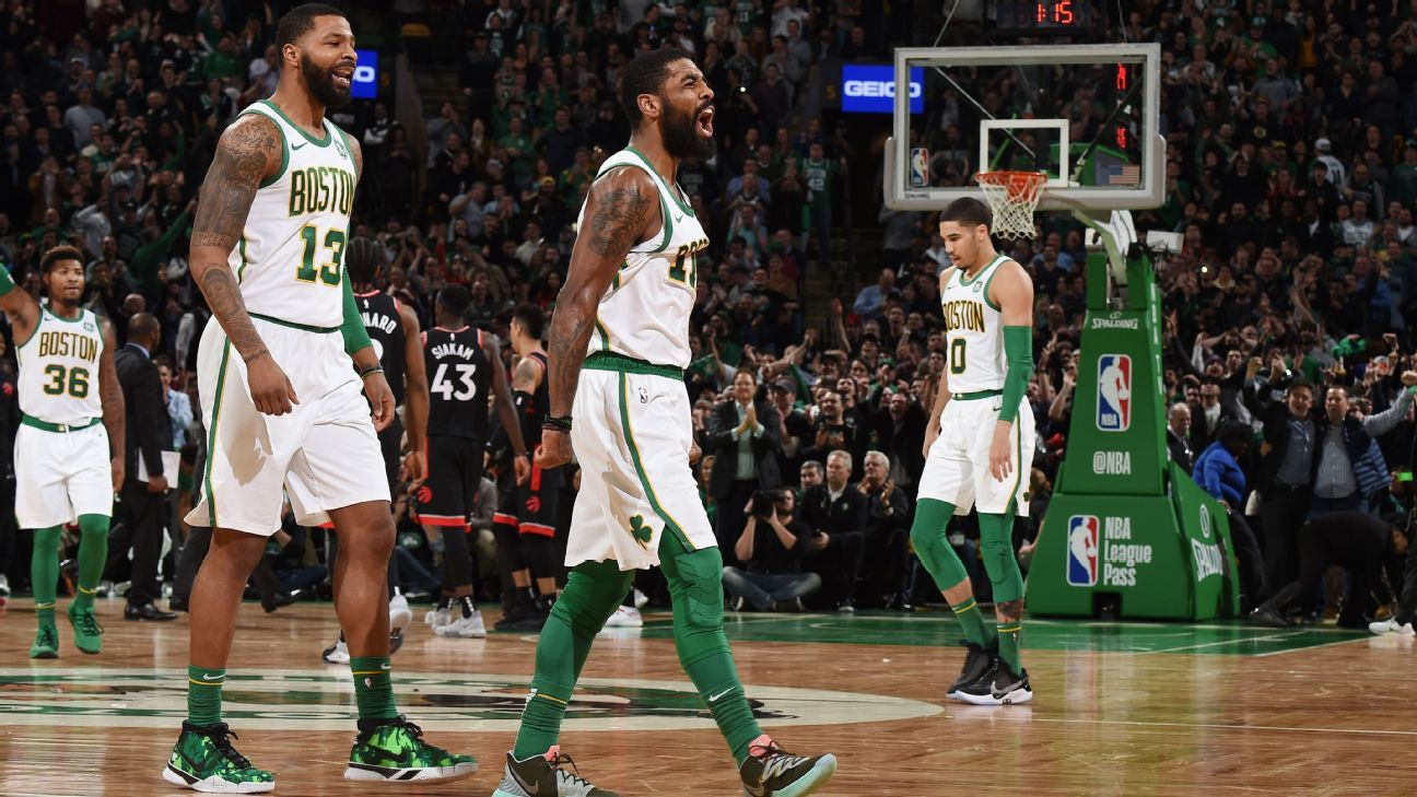 cbc1549fc Kyrie Irving of Boston Celtics called LeBron James to apologize for being   that young player that wanted everything  in Cleveland