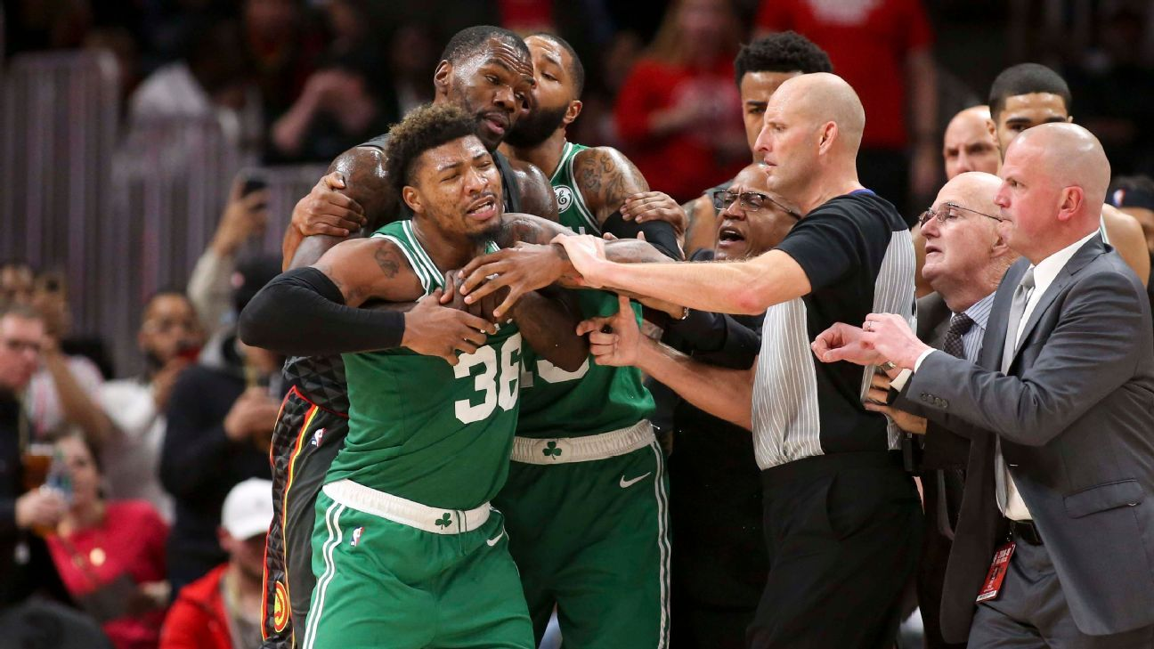 Marcus Smart of Boston Celtics ejected
