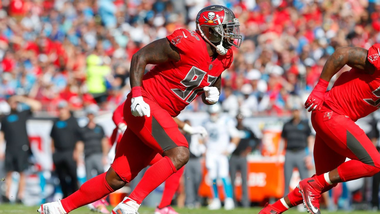After just one season in Tampa, defensive end Vinny Curry has been released by the Buccaneers.