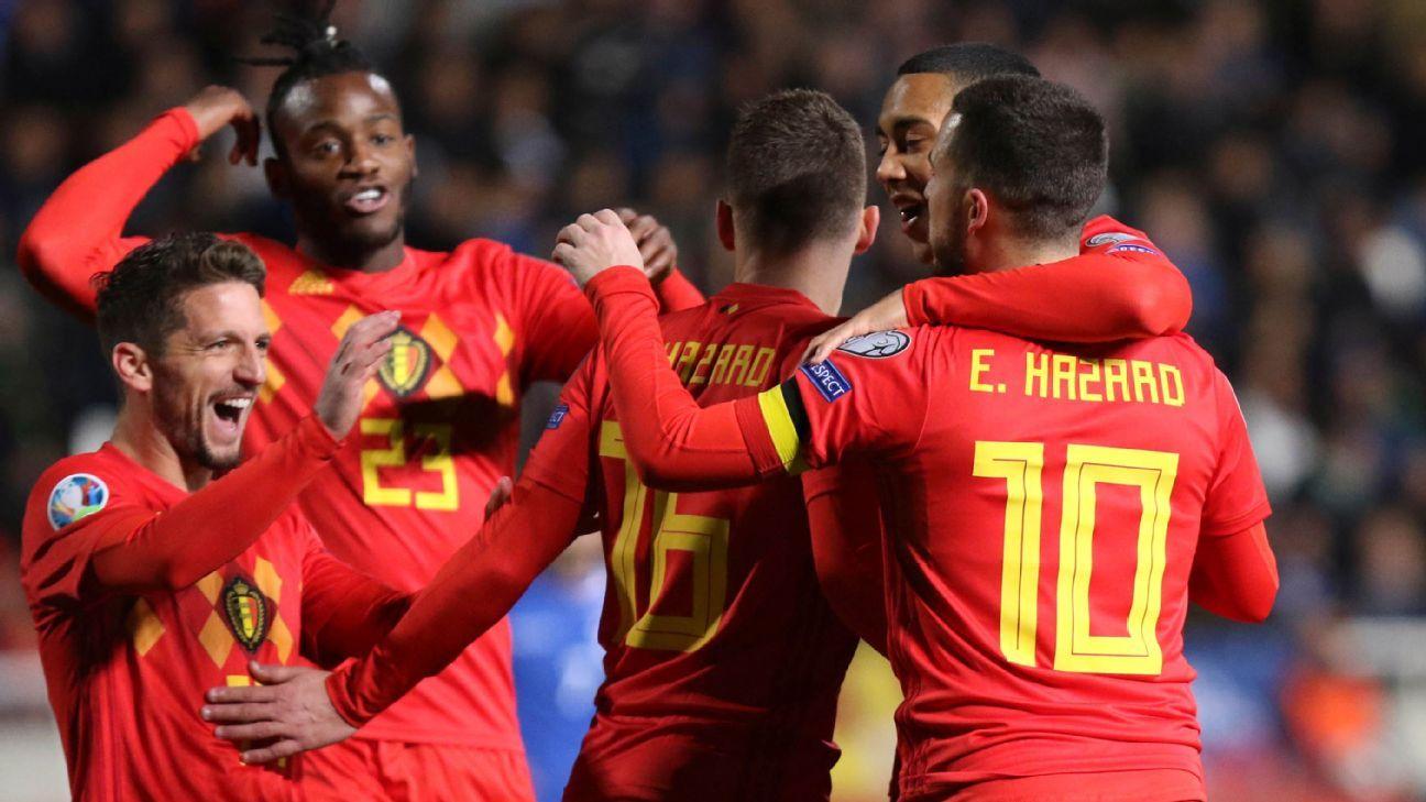 Hazard, Batshuayi strike as Belgium ease to victory over Cyprus