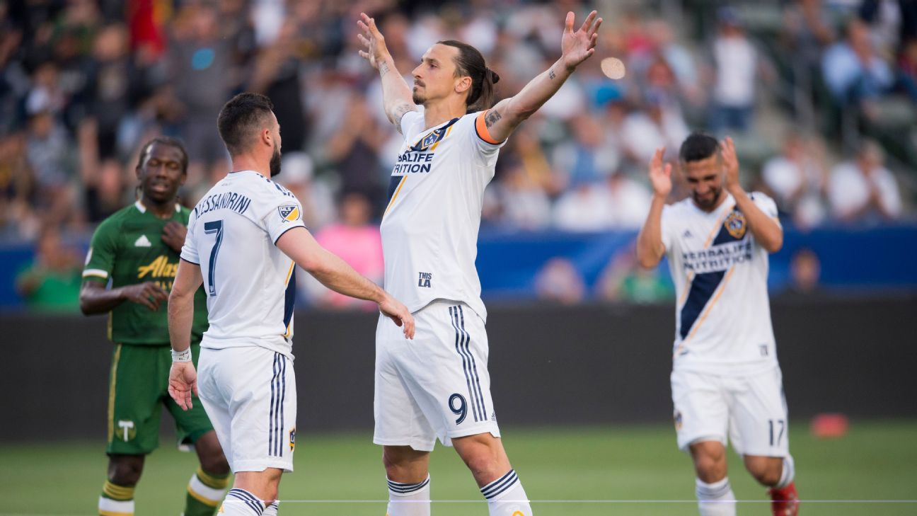 buy popular 62c67 c6694 LA Galaxy vs. Portland Timbers - Football Match Summary - March 31, 2019 -  ESPN