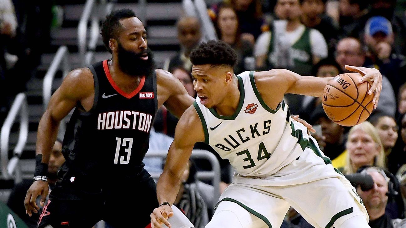 Giannis, Harden, Paul George all finalists for MVP