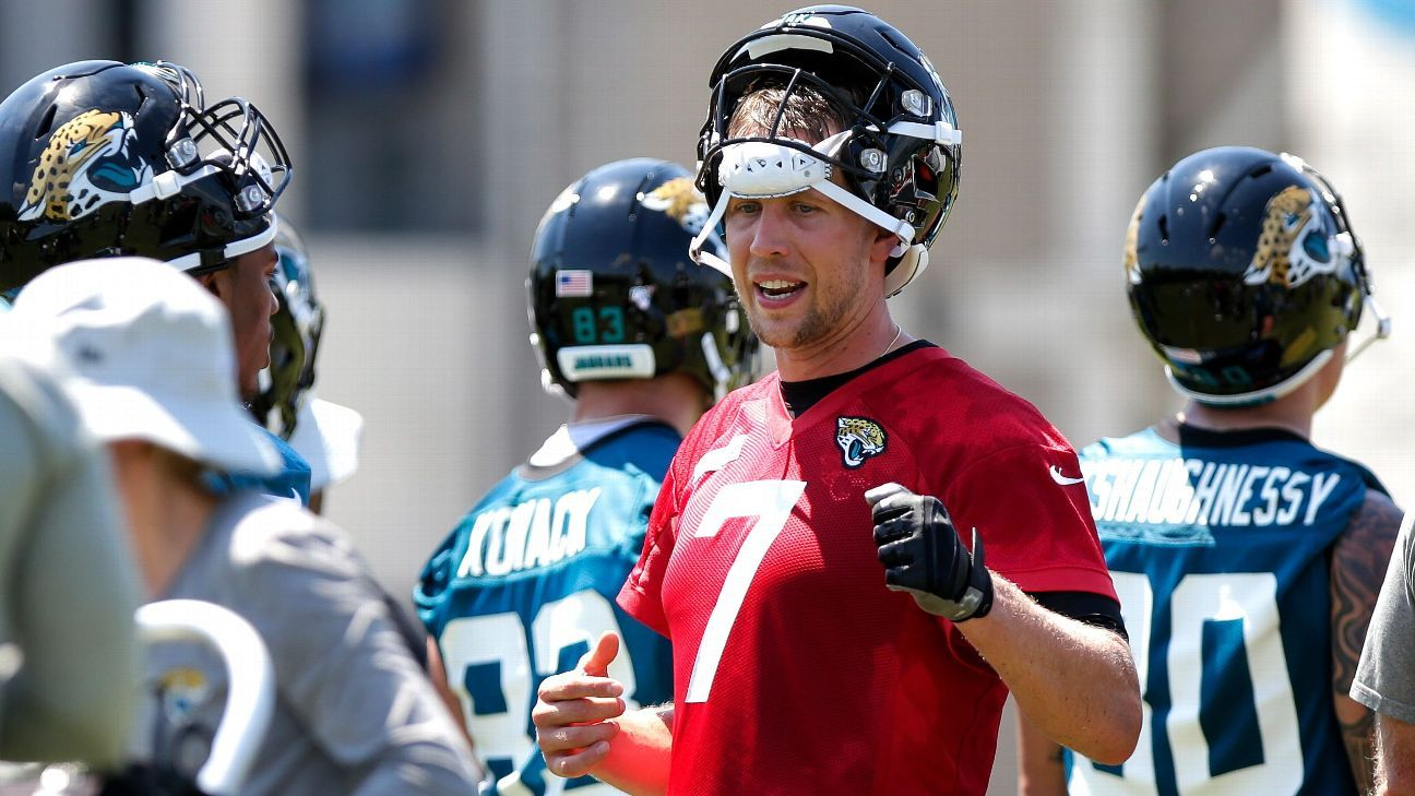 Jaguars quarterback Nick Foles missed Tuesday's OTA because he was caring for his wife after she had a miscarriage last weekend, Tori Foles revealed in an Instagram post Wednesday night.