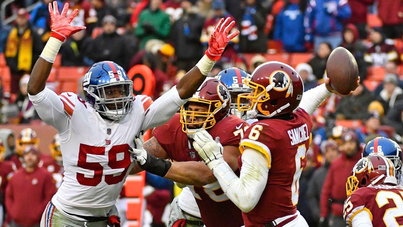 Giants' defense banking on Lorenzo Carter, rookies to make impact