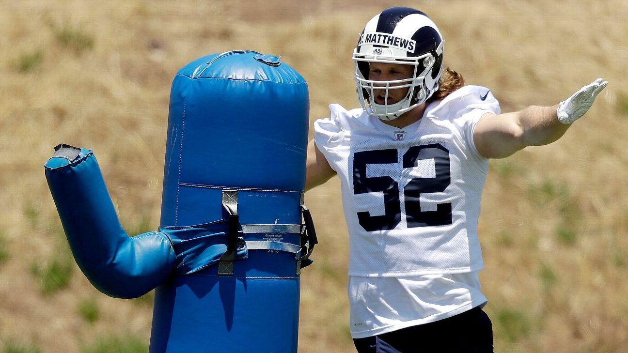 Clay Matthews navigates fresh start with Rams, sans tan