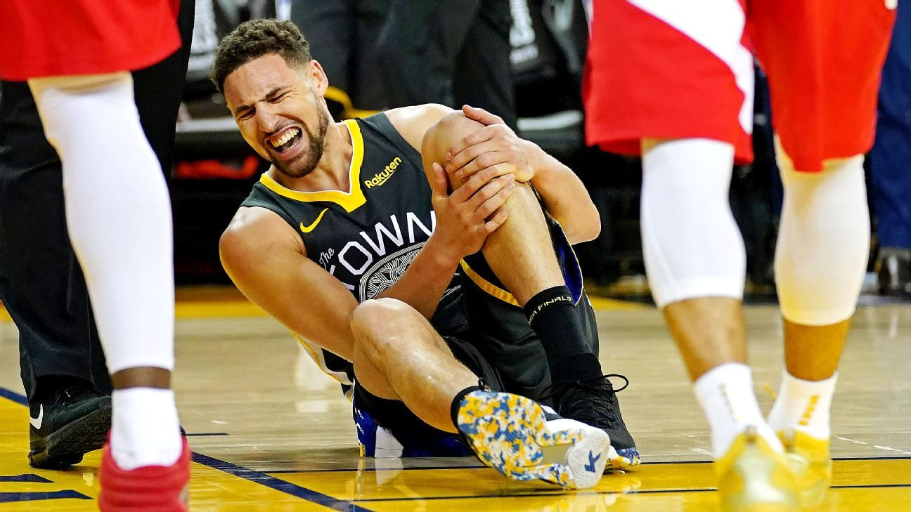 Klay has torn ACL in left knee, Warriors confirm