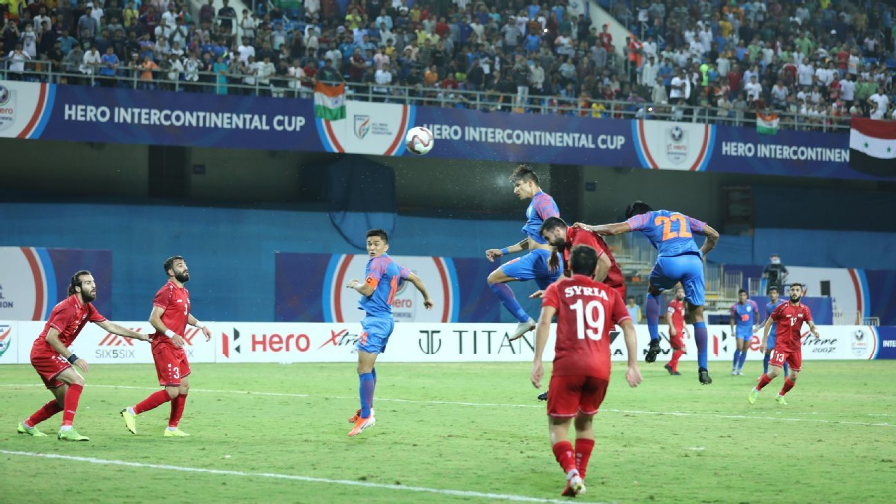As it happened: Narender Gahlot's first senior goal helps India draw against Syria - ESPN India