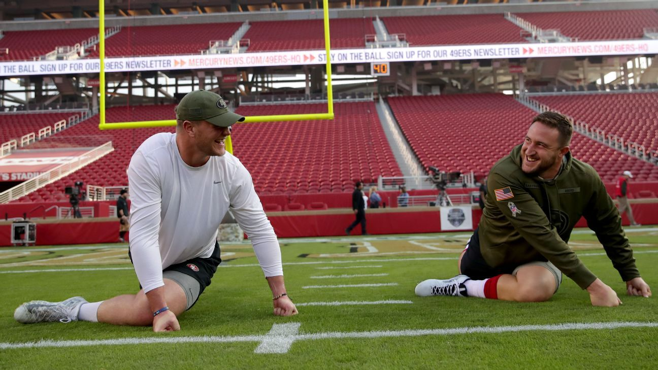 Beers, bros and karaoke: Joe Staley, Mike McGlinchey are the heartbeat of the 49ers