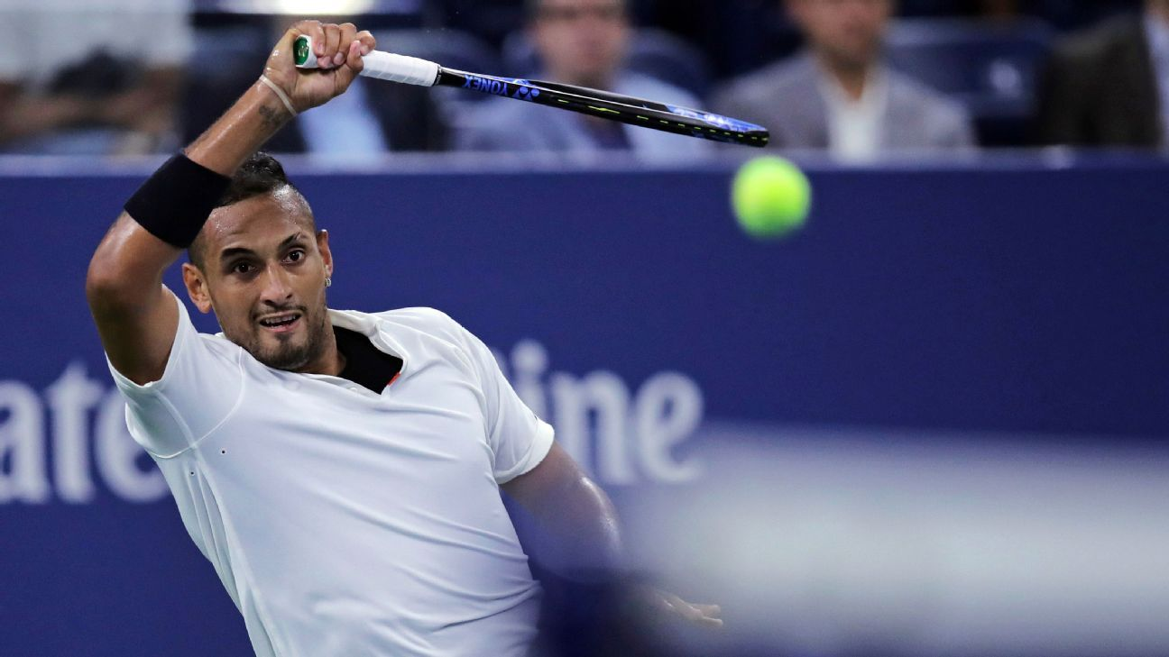 With possible ban looming, Nick Kyrgios' turbulent US Open singles run comes to end