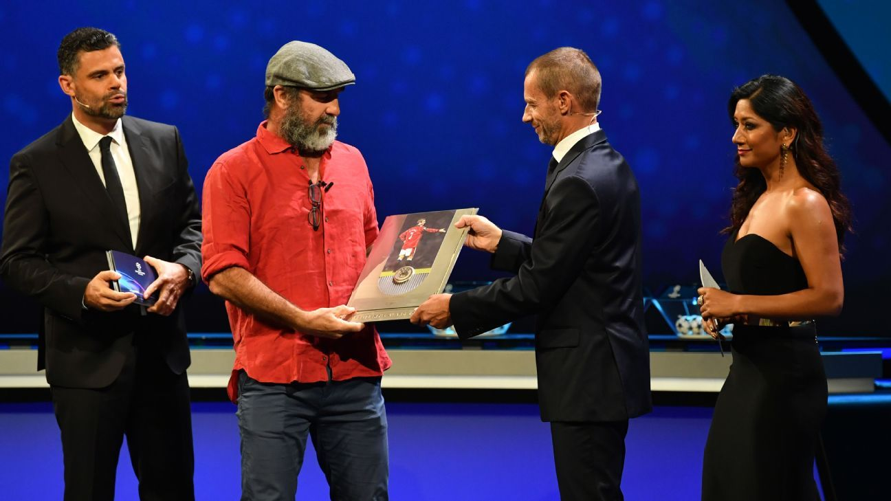 Eric Cantona delivers typically unique acceptance speech at UEFA ceremony