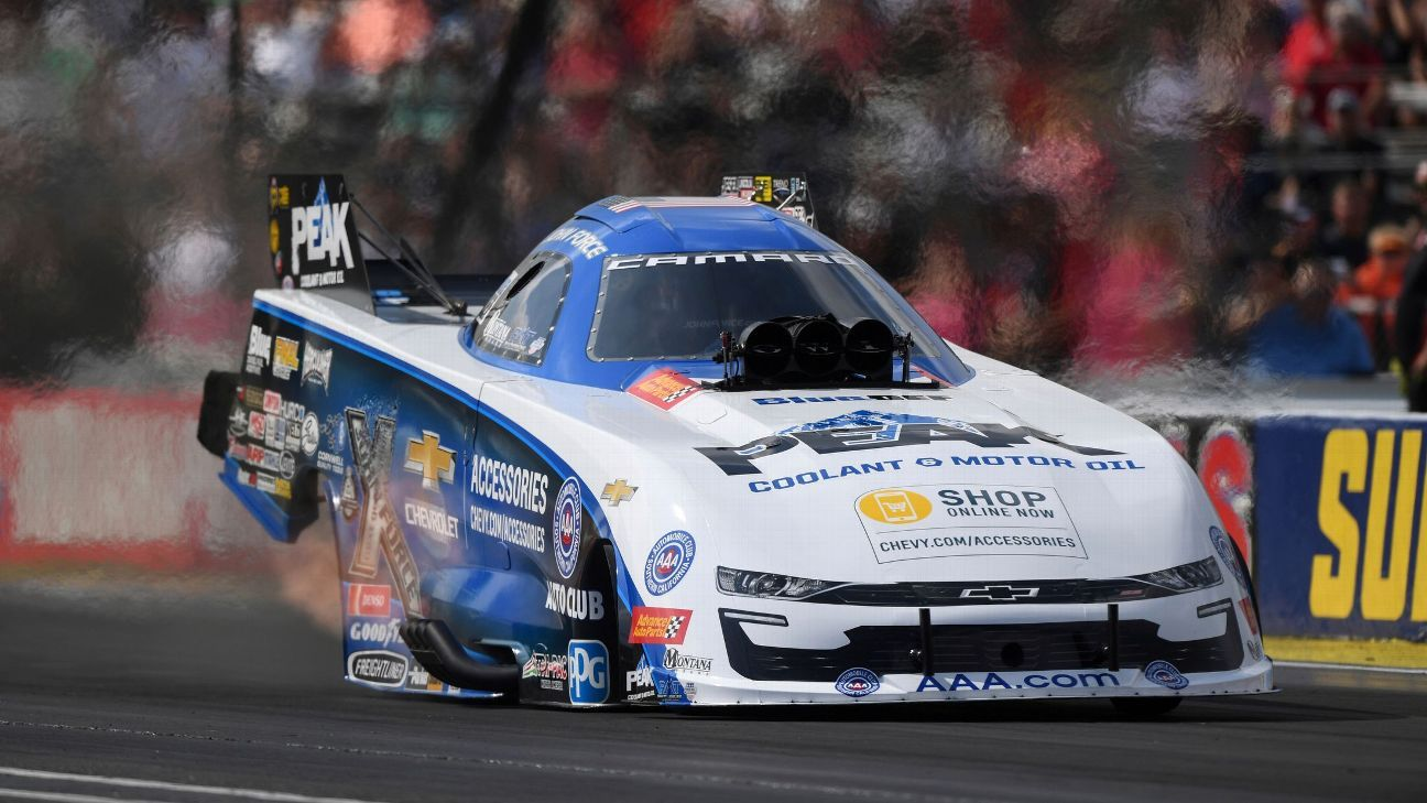 John Force wins at Indy for 5th time, ties record