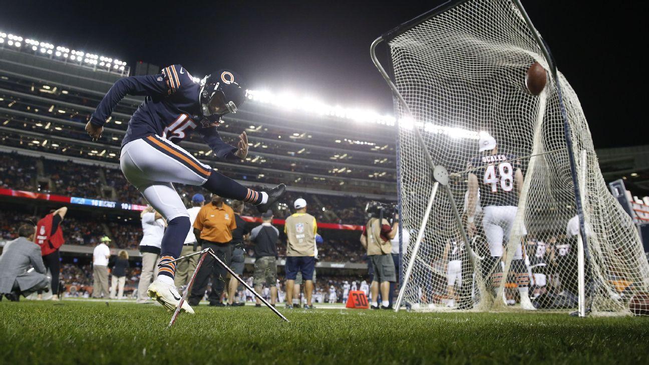 Bears kicker Pineiro questionable with knee injury
