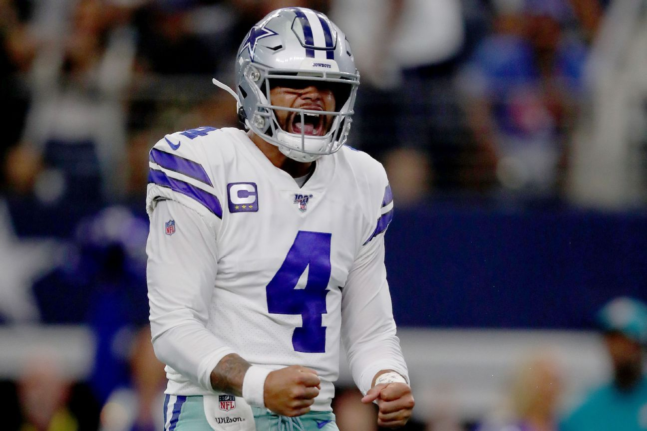 Prescott pristine in opener amid extension talks