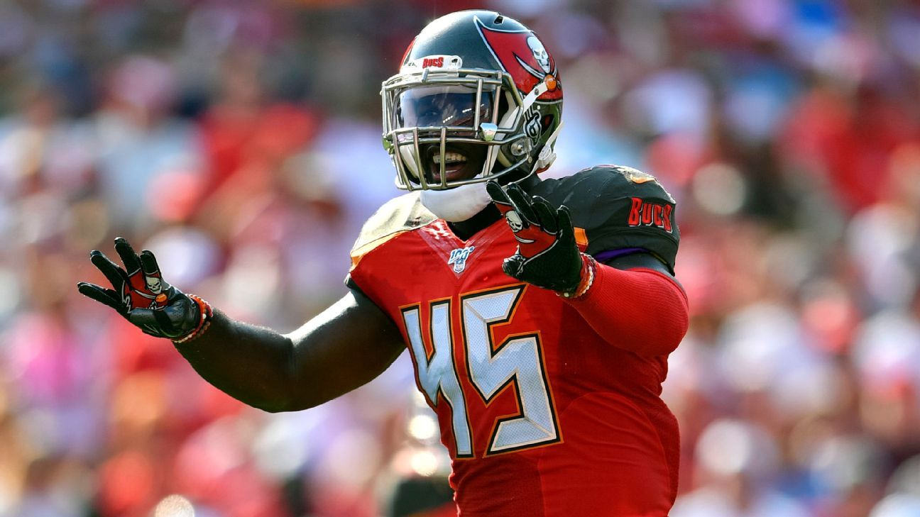 Rookie Devin White sets tone for Bucs by playing through tonsillitis