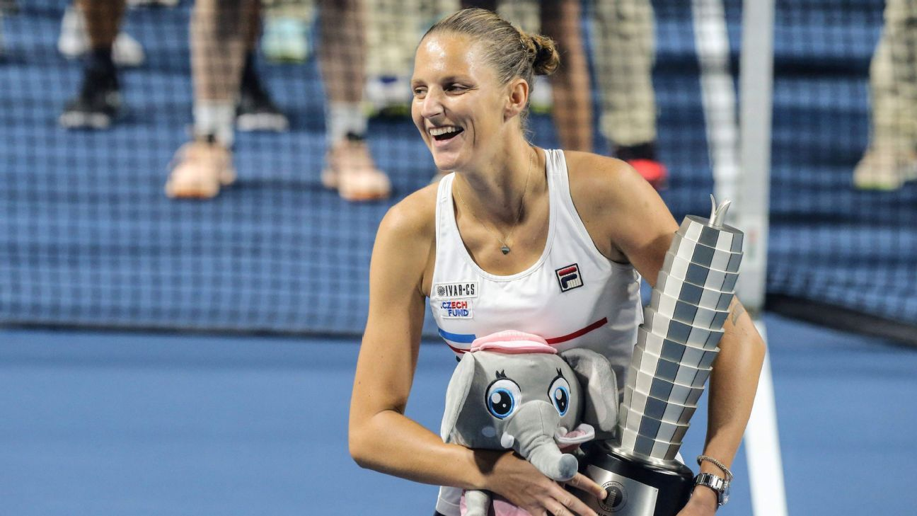 Pliskova fights rain, early hole to win Zhengzhou