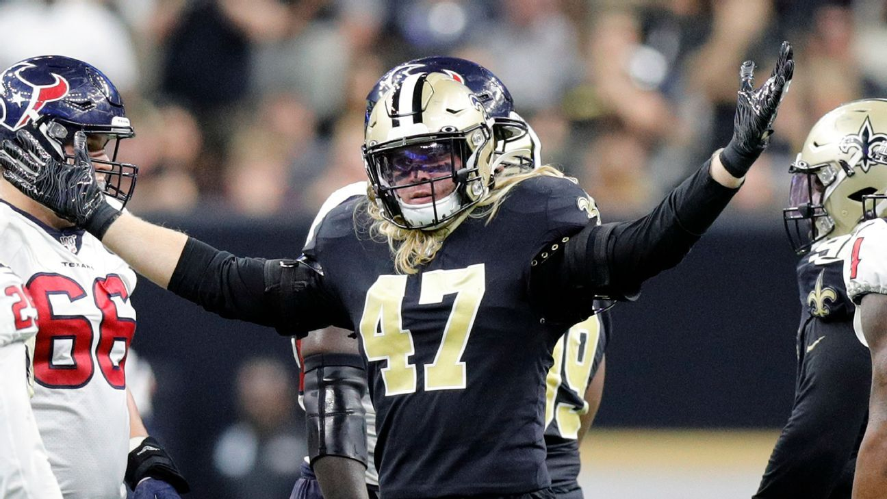 Saints starting MLB Anzalone placed on IR