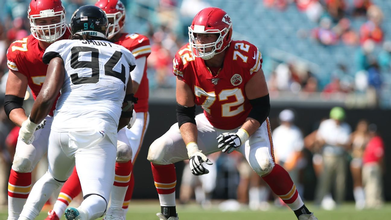 Chiefs LT Fisher to miss games with core injury