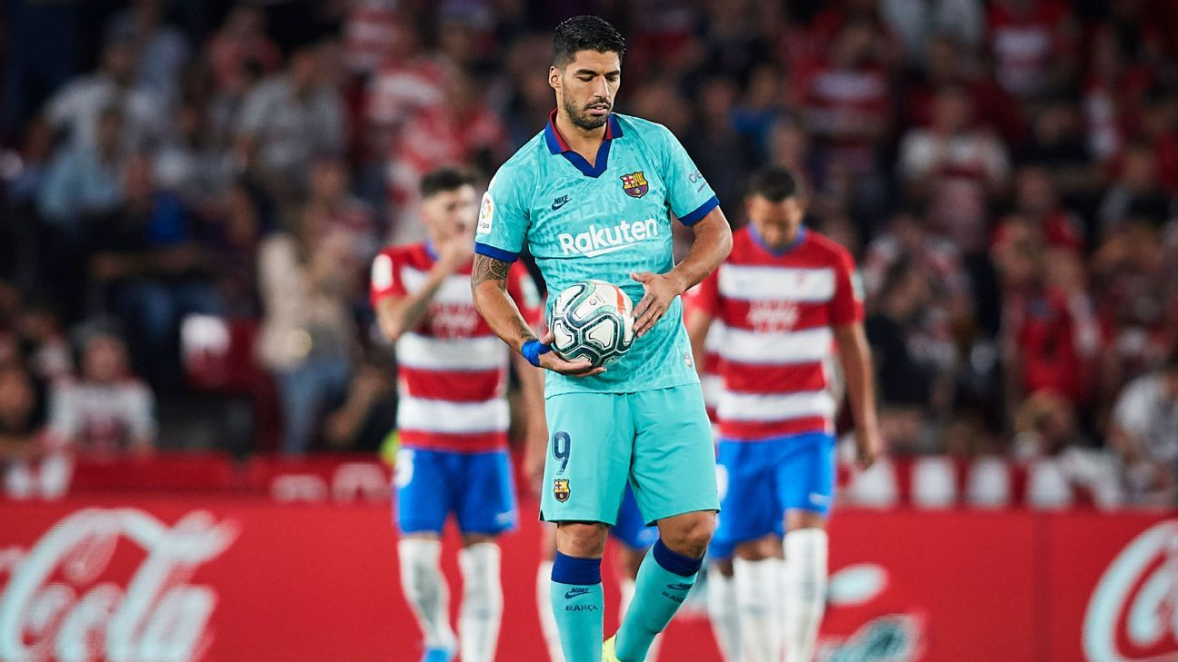 Luis Suarez looks lost in 4/10 showing as Barca's road woes continue in loss at Granada