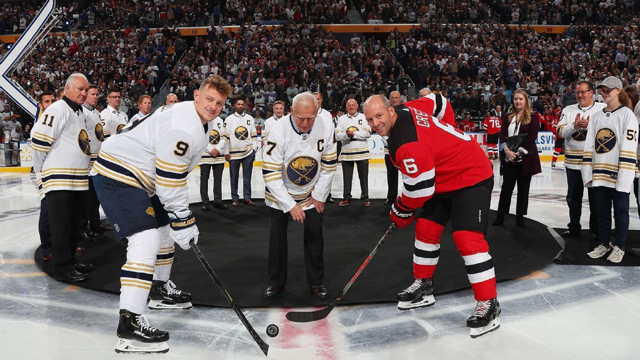 Former Sabres captains help kick off franchise's 50th season