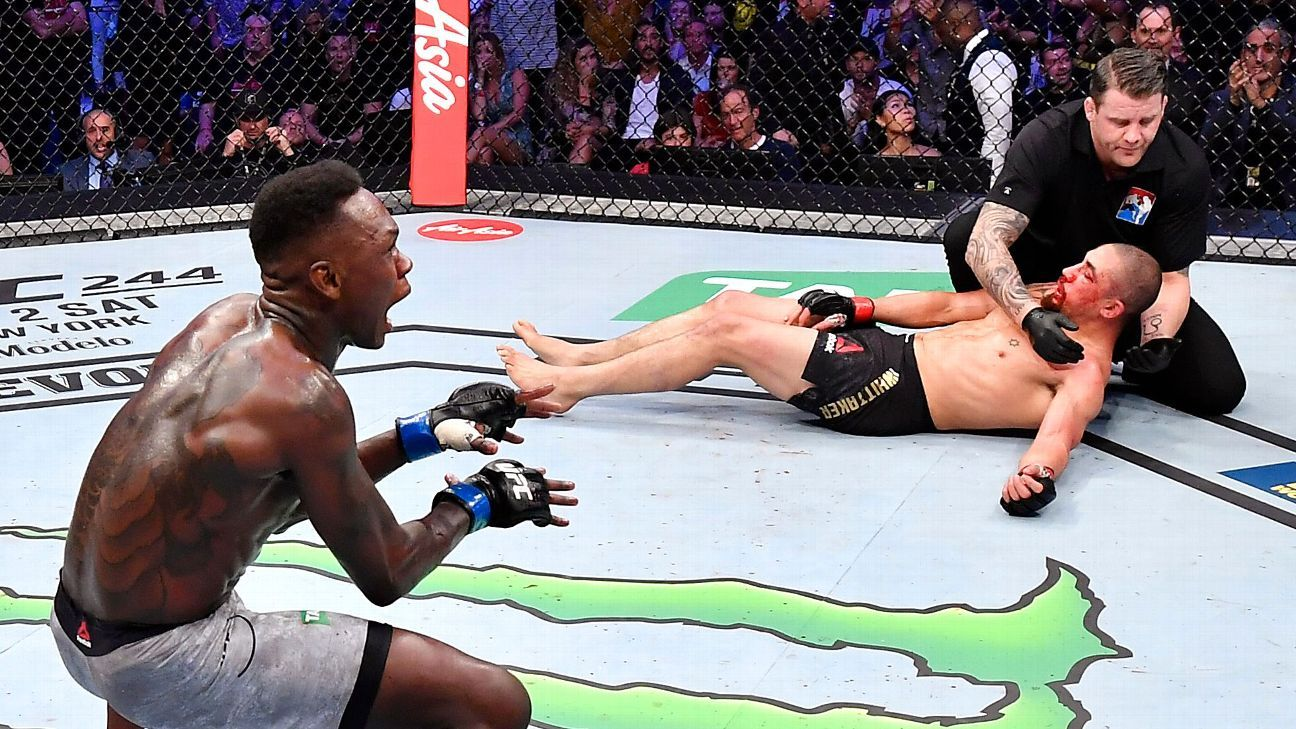Israel Adesanya knocks out Robert Whittaker to unify UFC title