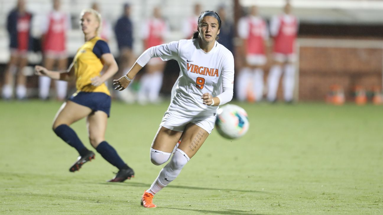 Freshman Diana Ordonez finds comfort -- and the back of the net -- with Virginia soccer