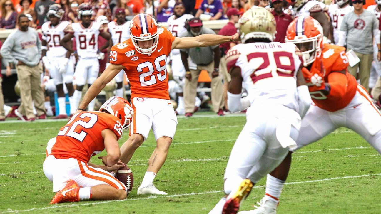 Clemson going with 2 kickers against Louisville